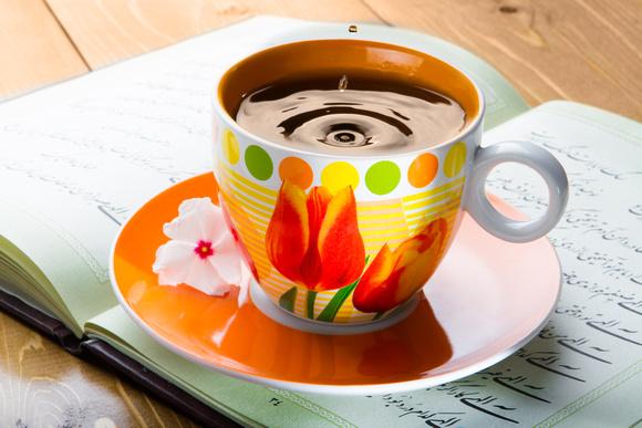 Tea in porcelain cup