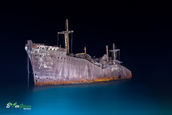 Night View of the greek Ship