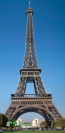 Panoramic View of the Eiffel Tower